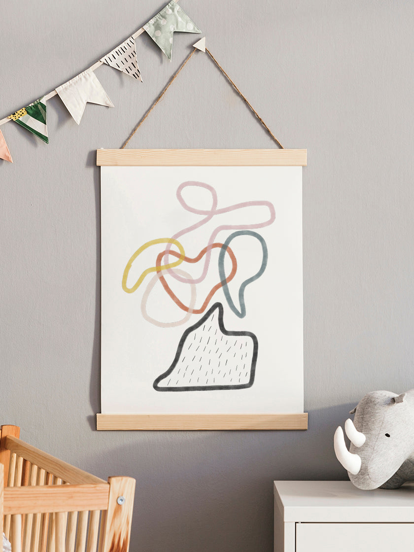 colourful-connections-abstract-art-poster-in-interior-kids-room