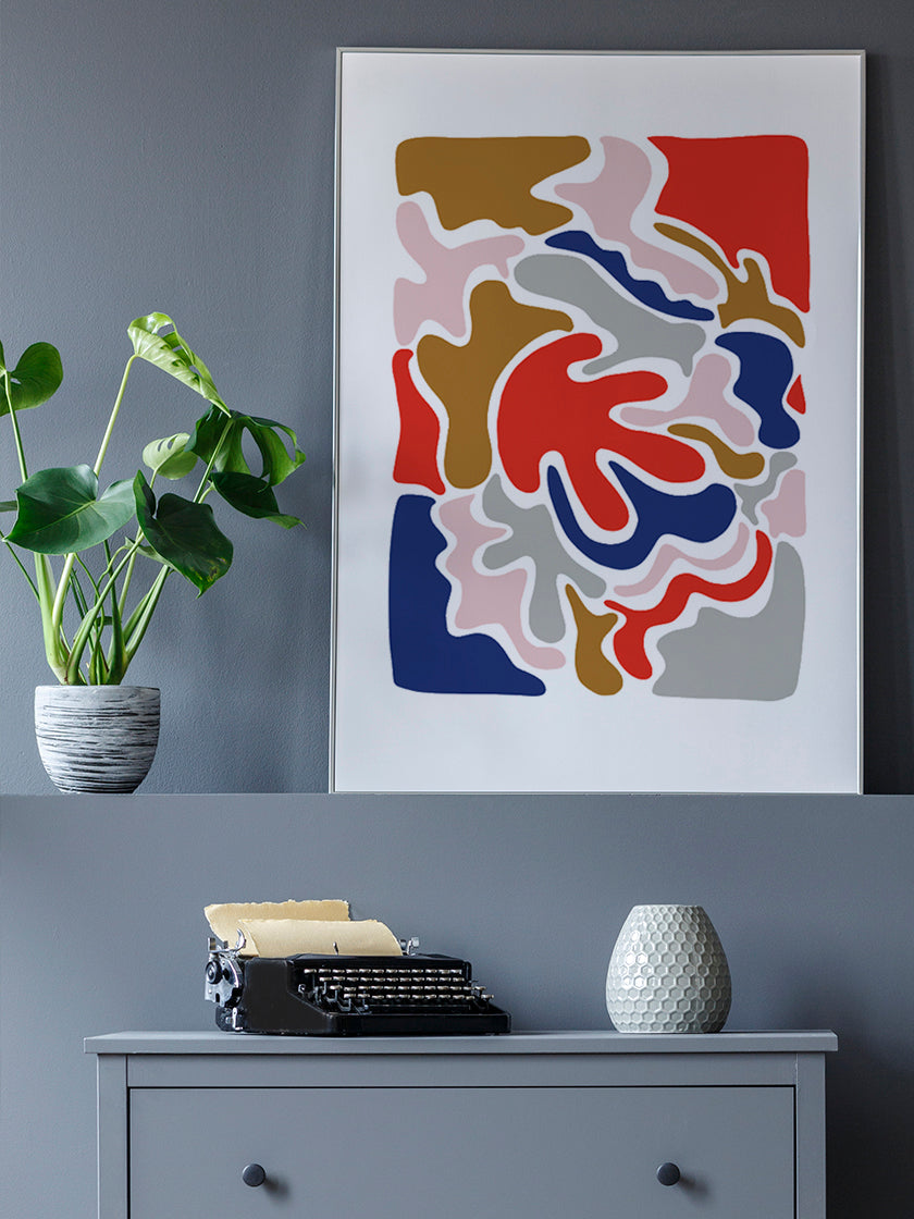 abstract-colourful-puzzle-poster-in-interior