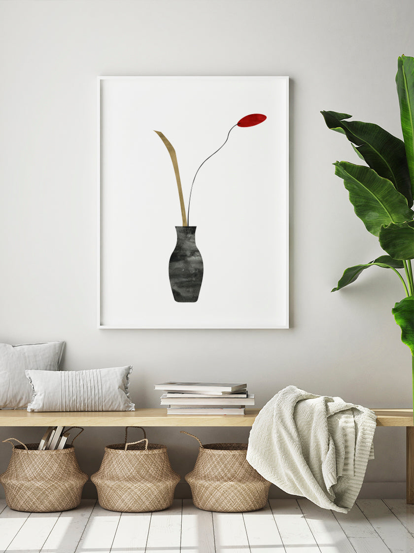 project-nord-poppy-flower-poster-in-interior-hallway
