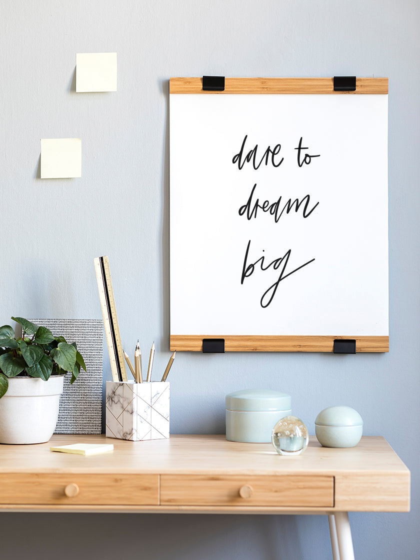 inspirational-dream-big-poster-in-interior-home-office