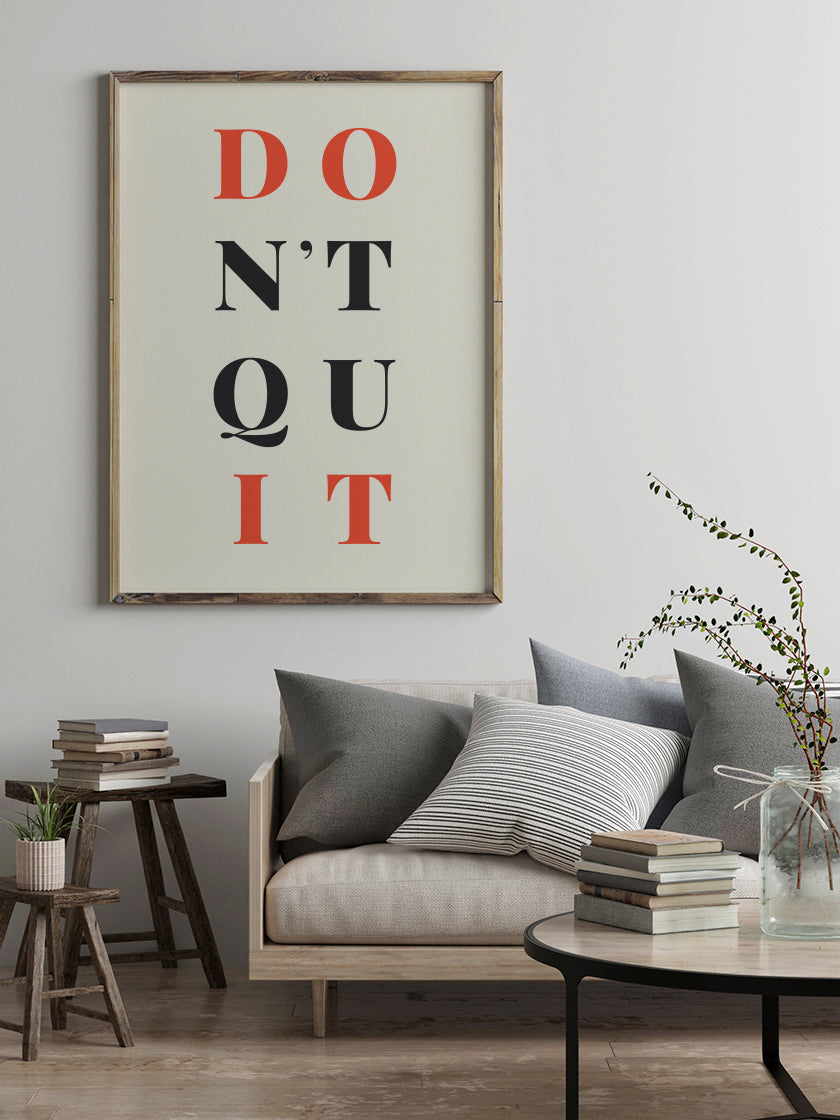 dont-quit-do-it-poster-in-interior-living-room