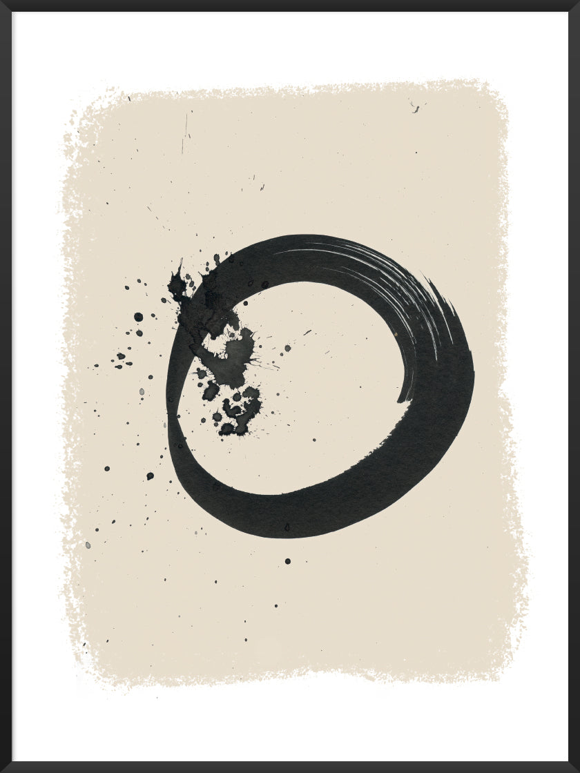 ENSO - Hand Painted Circle Poster