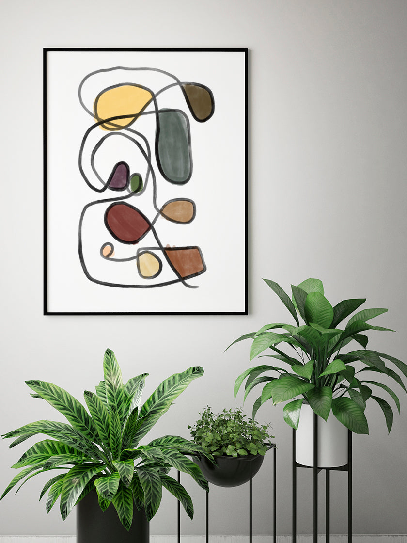 finding-my-way-abstract-colourful-lines-poster-in-interior