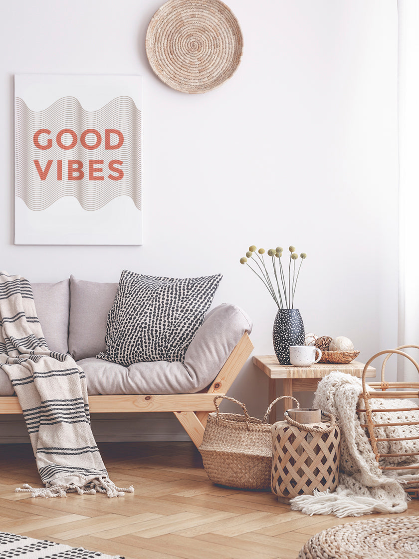 good-vibes-poster-in-interior-living-room