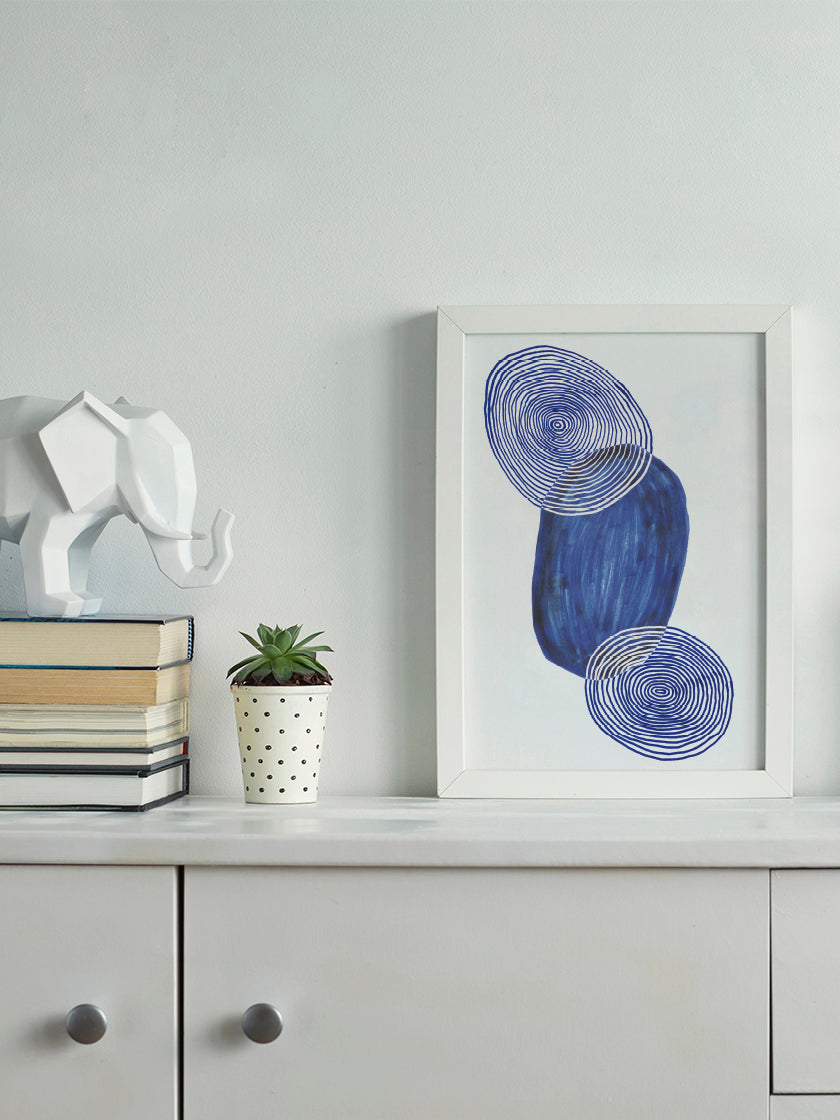 project-nord-les-figures-blue-shapes-poster-in-interior-hallway