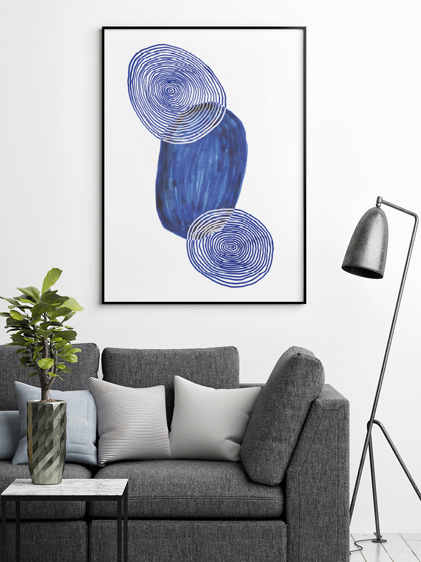 project-nord-les-figures-blue-shapes-poster-in-interior-living-room