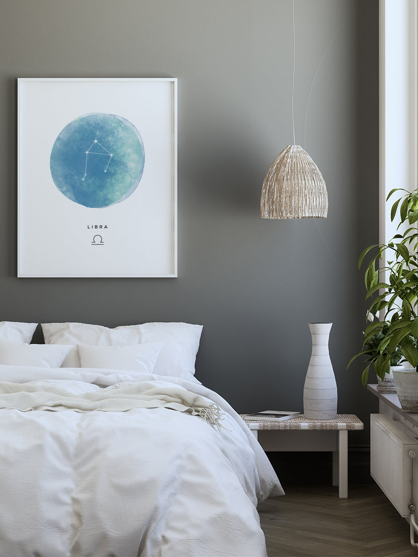Libra Watercolour - Libra Zodiac Sign Poster