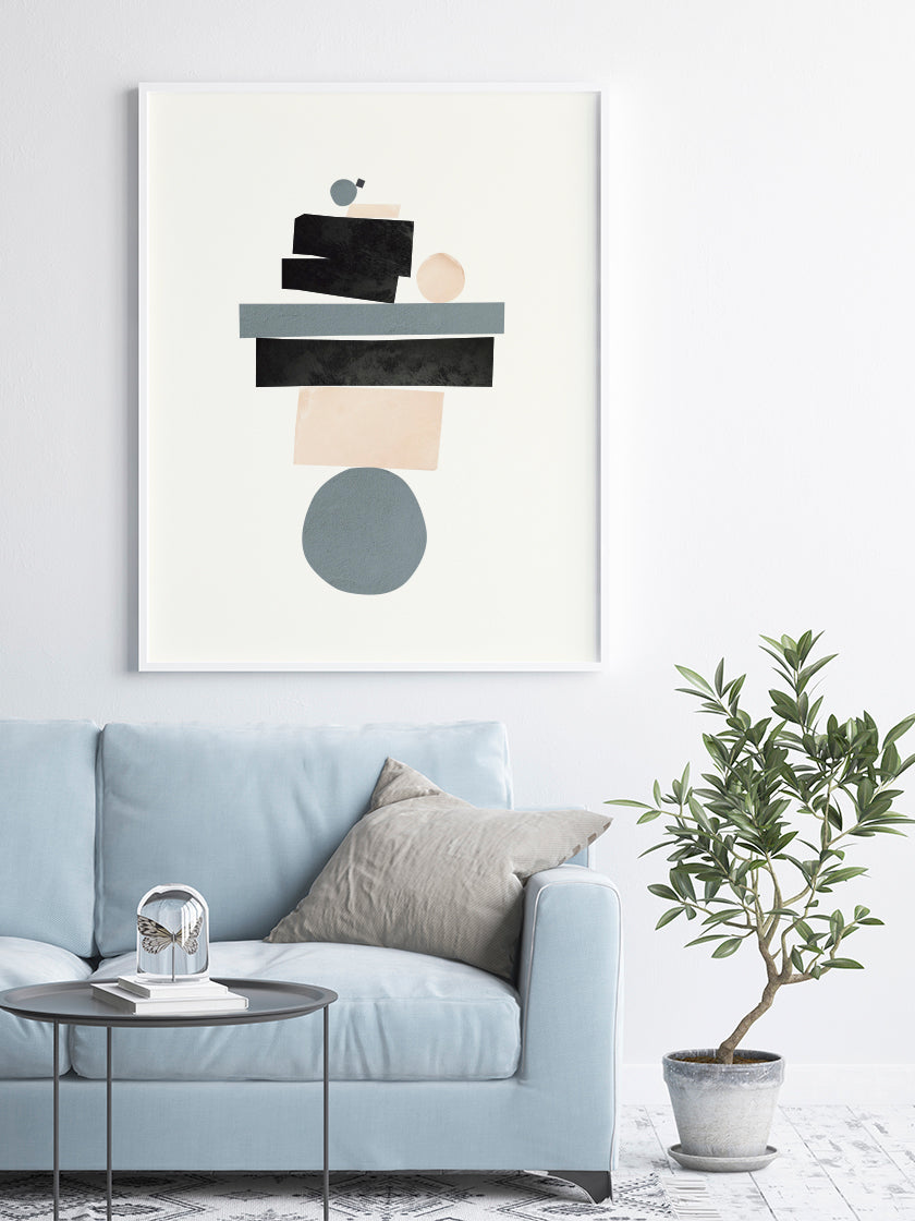 project-nord-life-balance-abstract-poster-in-interior-living-room