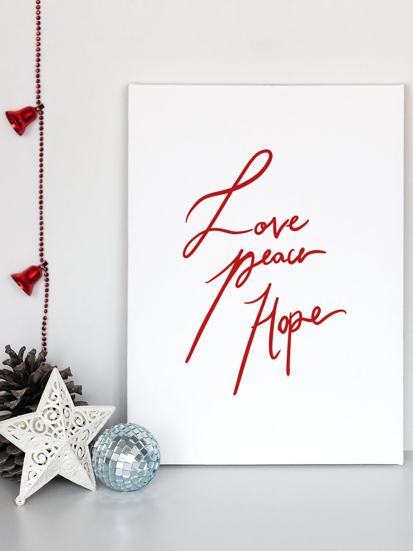 Love, Peace, Hope - Poster
