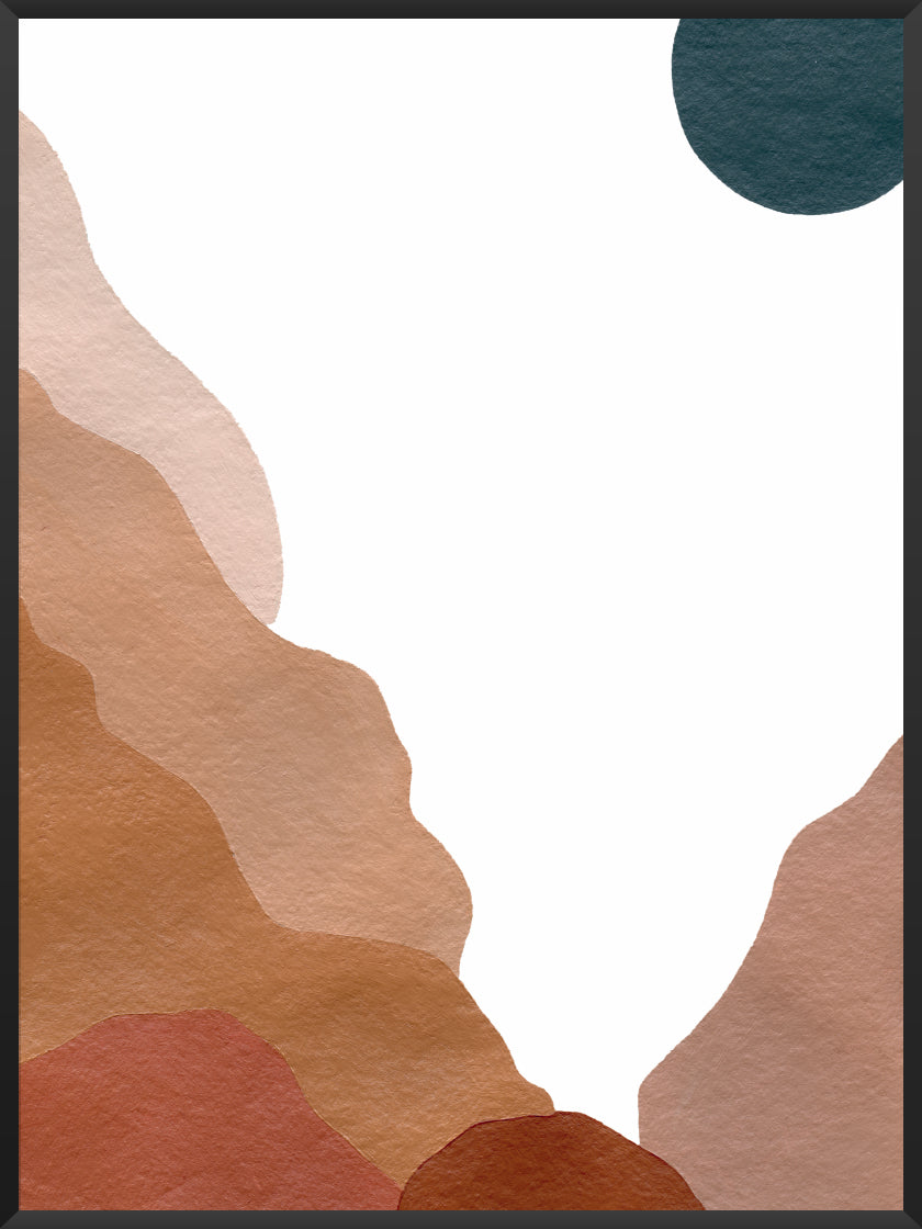 Abstract Grand Canyon - Poster