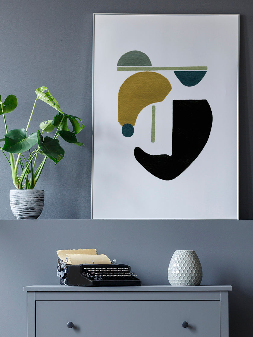 project-nord-motherhood-hand-painted-modern-abstract-poster-in-interior-hallway