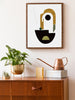 project-nord-mother-hand-painted-shapes-poster-in-interior-hallway
