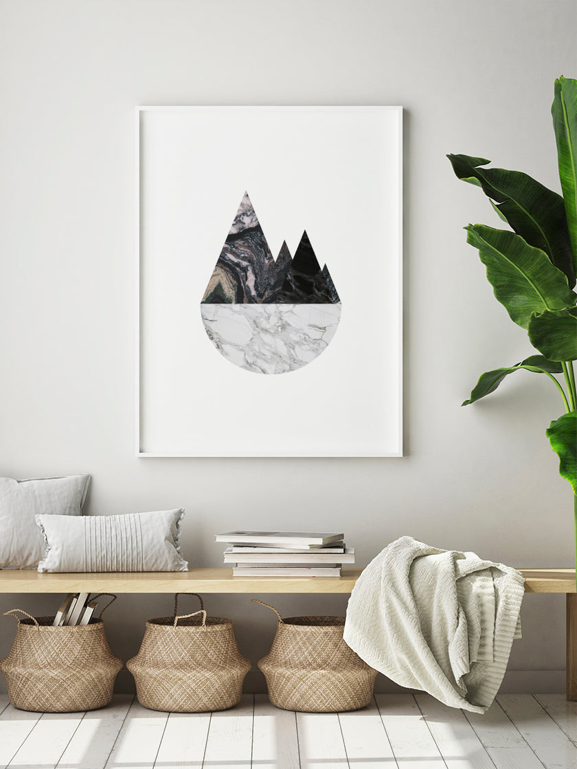 marble-mountains-poster-in-interior-hallway