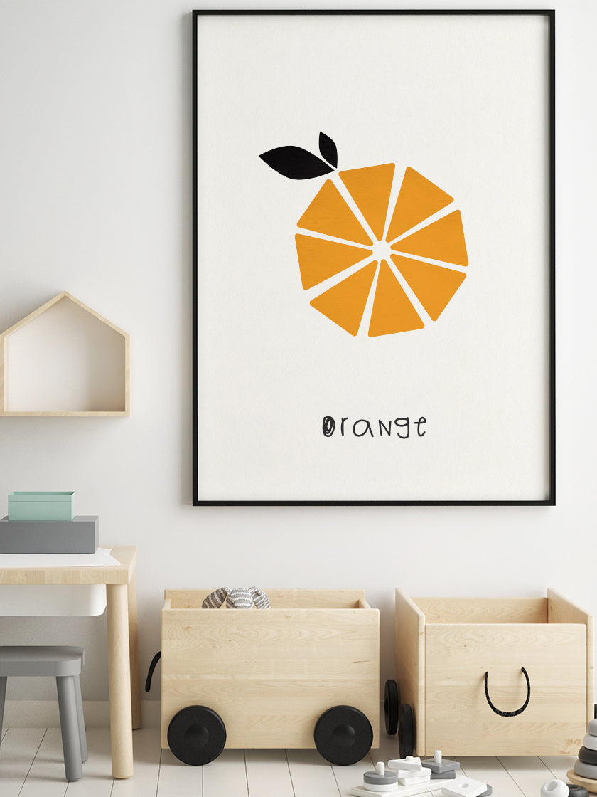 Orange - Orange Kids Room Poster