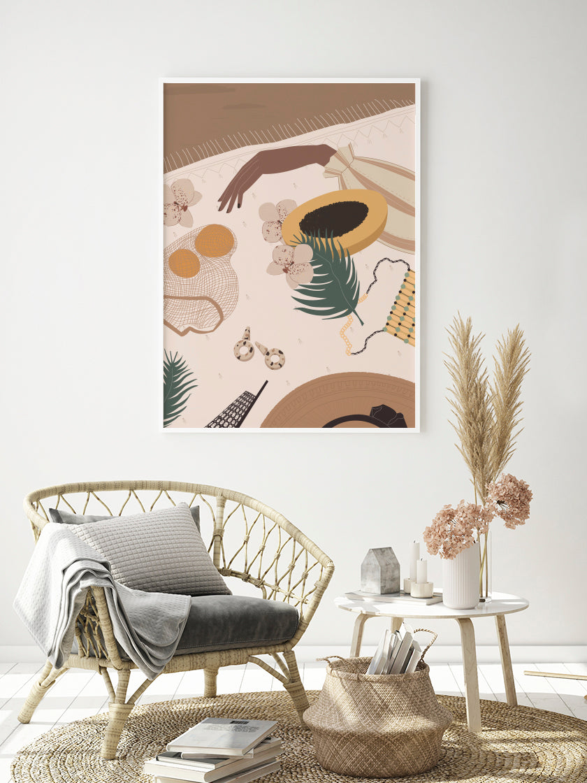 project-nord-papaya-illustration-poster-in-interior-living-room