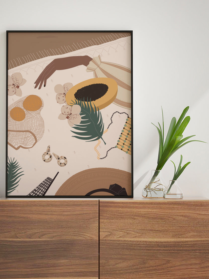project-nord-papaya-illustration-poster-in-interior