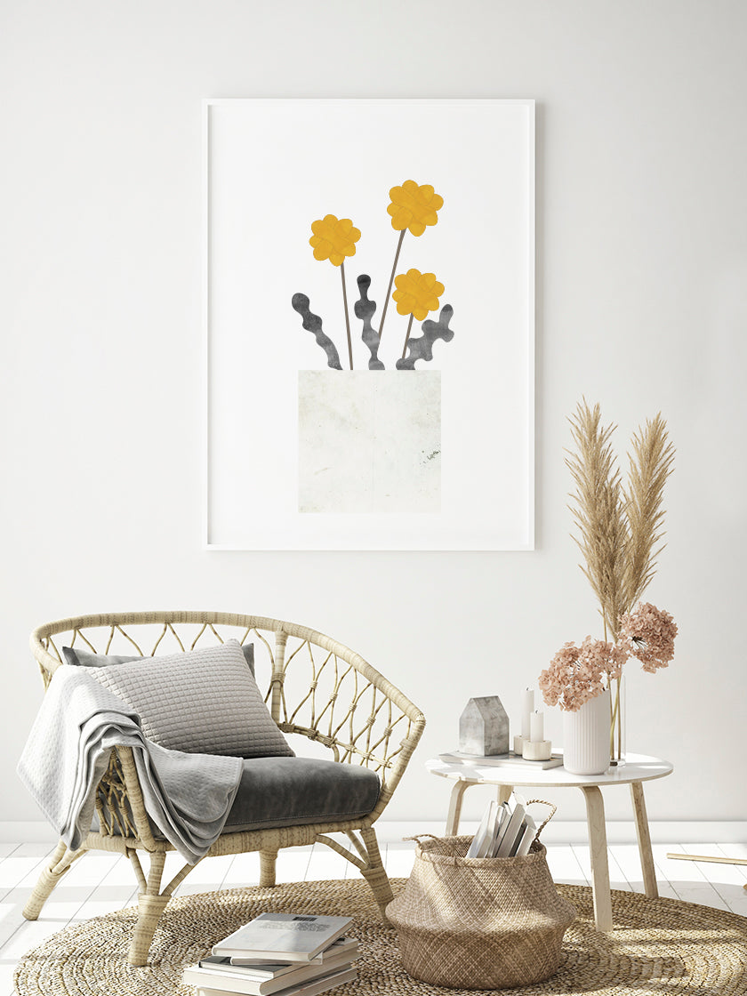 project-nord-dandelion-poster-in-interior-living-room