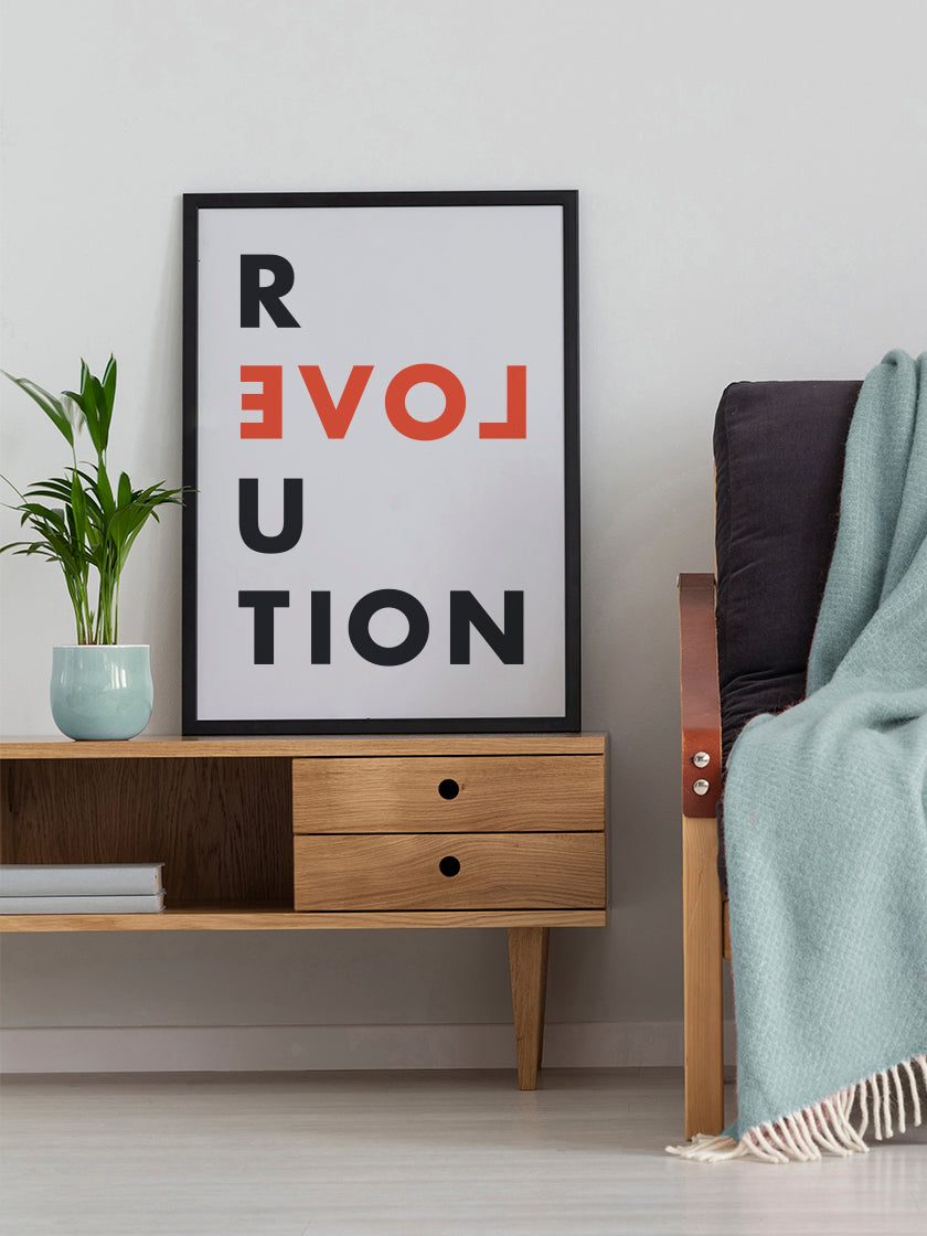 love-revolution-poster-in-interior-living-room
