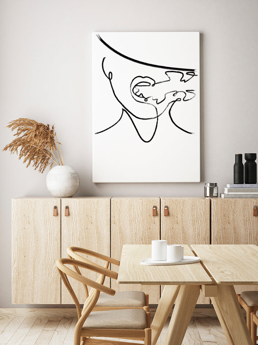 anonymous-smoking-woman-poster-in-interior-dining-room
