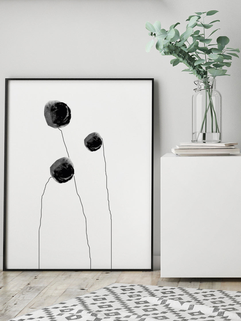 project-nord-standing-flowers-minimalist-flower-poster-in-interior