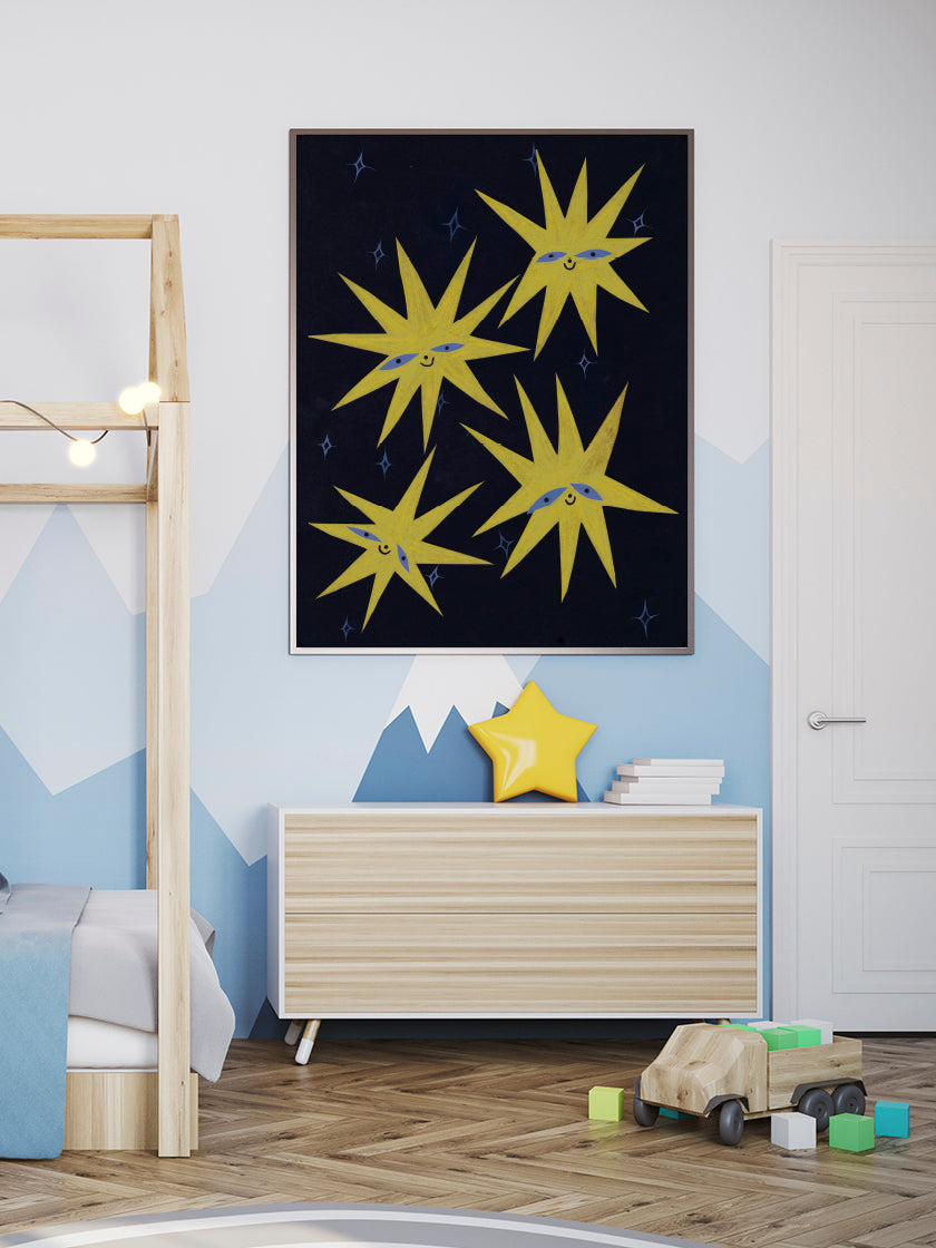 stars-crayon-kids-room-poster-in-interior-kids-room