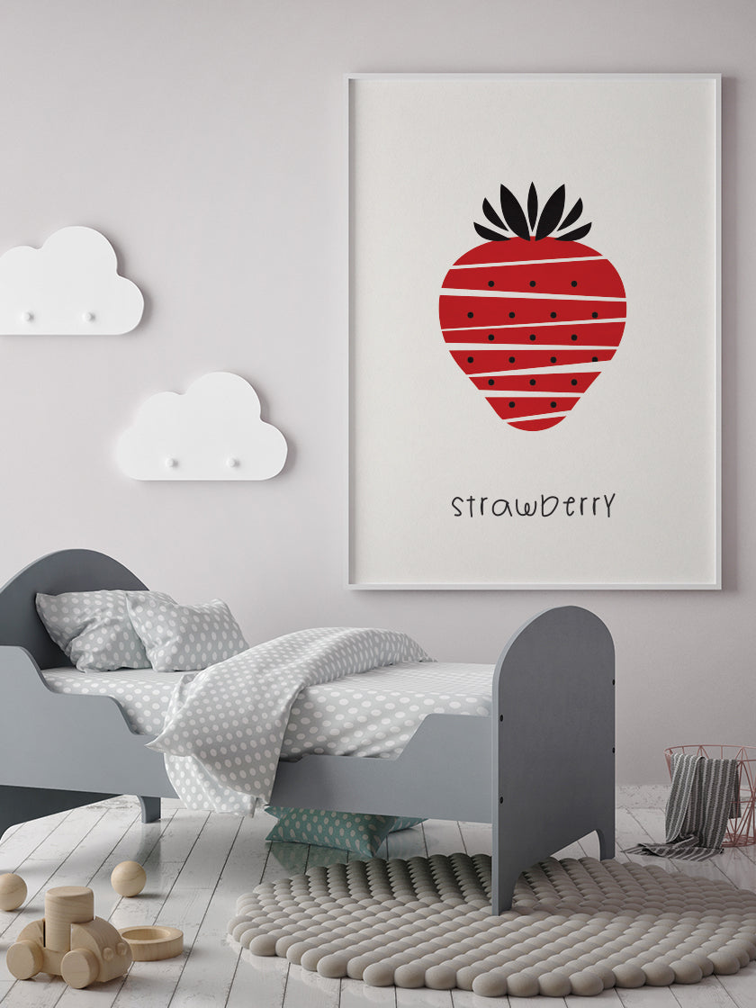 Strawberry - Strawberry Kids Room Poster