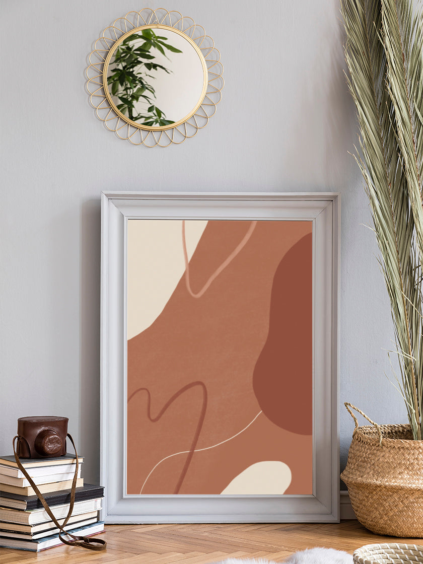 project-nord-autumn-clouds-abstract-terracotta-poster-in-interior-living-room