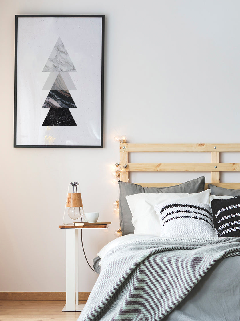 project-nord-marble-triangles-poster-in-interior-bedroom