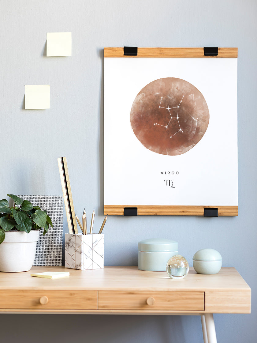 Virgo Watercolour - Virgo Zodiac Sign Poster