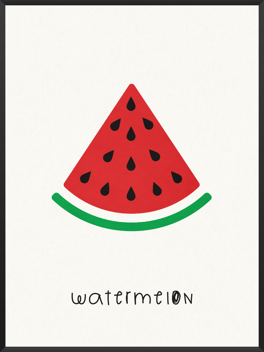 Watermelon - Watermelon Kids Room Poster