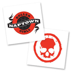 Red Skull Temporary Tattoo