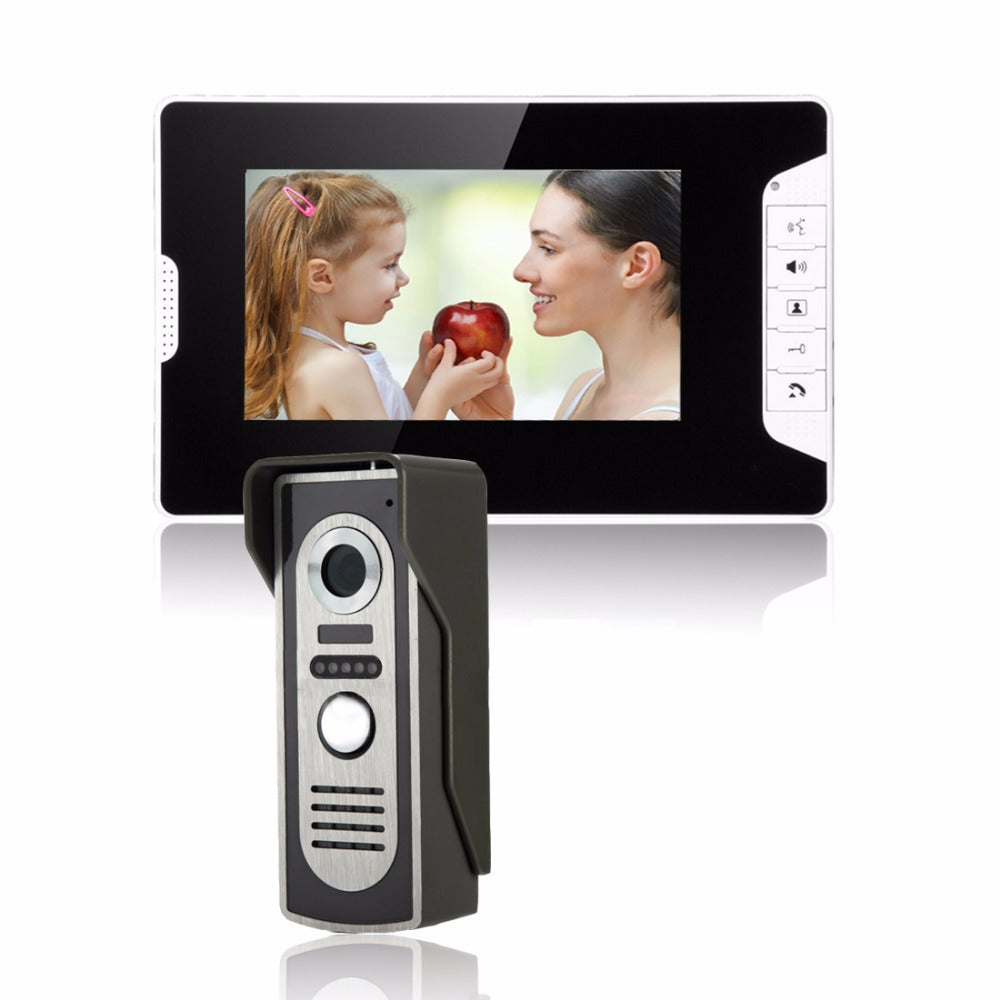 SYSD 7 inch LCD Color Video door phone Intercom System