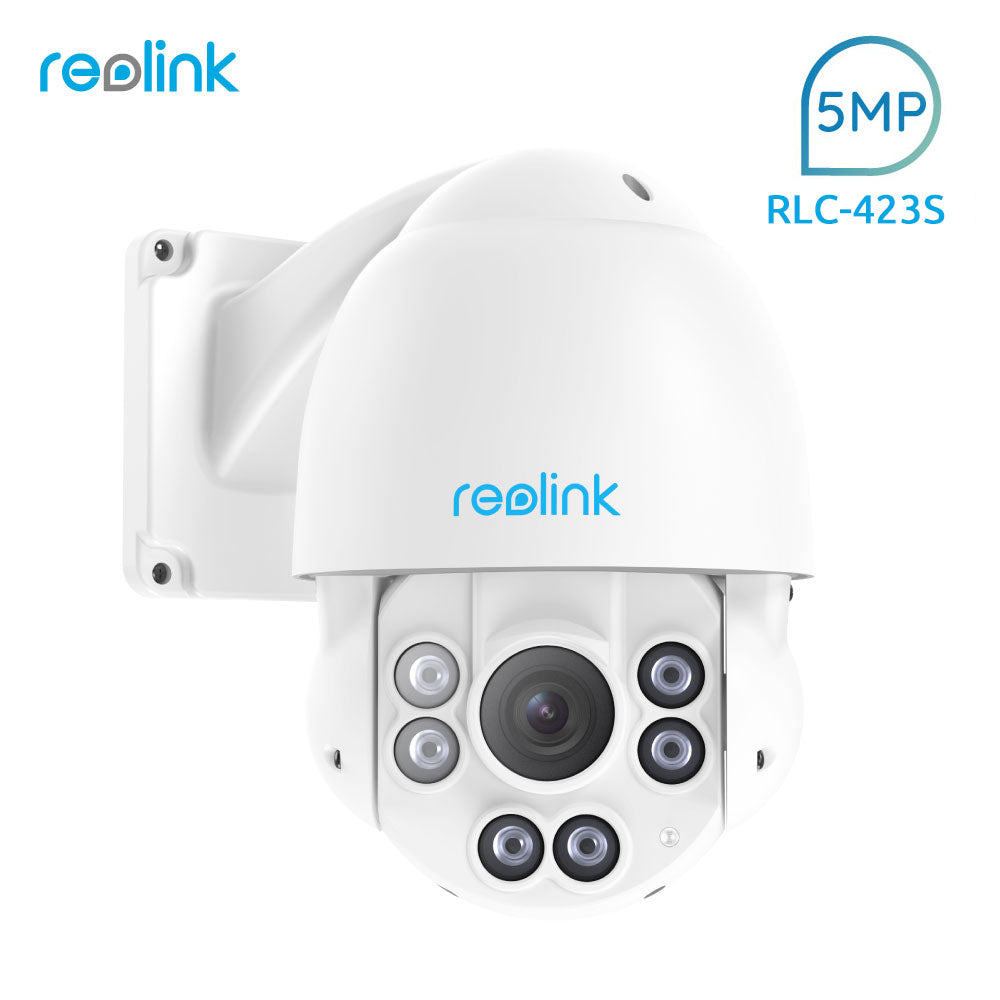 Reolink PTZ IP Camera PoE 5MP 3072*1728 Pan/Tilt 4x Optical Zoom Built-in 32GB SD card Outdoor  Security Cam RLC-423S