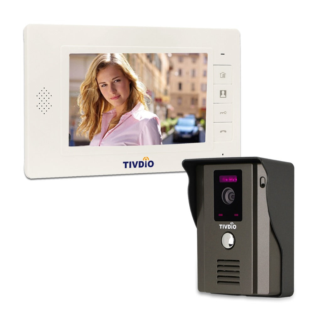 "TIVDIO T-11D 7"" Color Video Door Intercom"