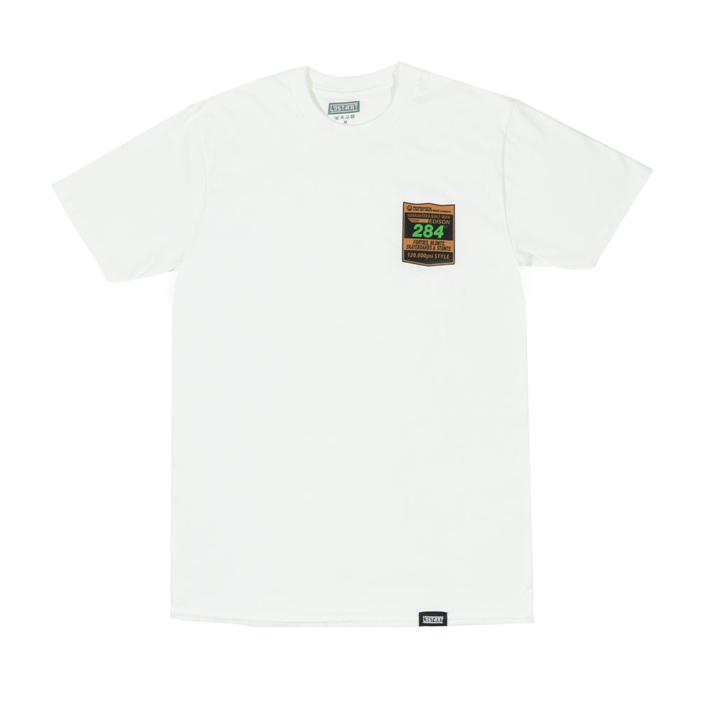 Lost Art -</br>Baines Edison (Raleigh-Gator) Tee </br> White