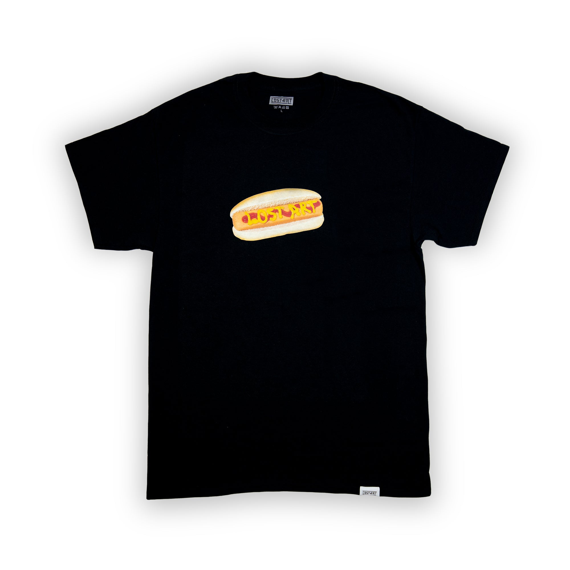 Hot Dog Tee </br> Black