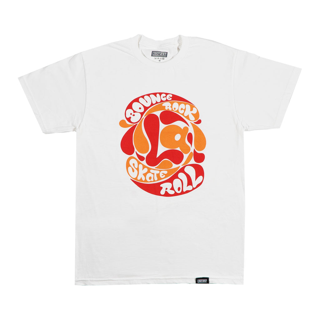 Bounce Rock Skate Roll Tee </br> White