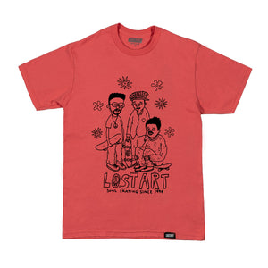 Lost Art -</br>Soul Skating Tee S/S </br>Coral
