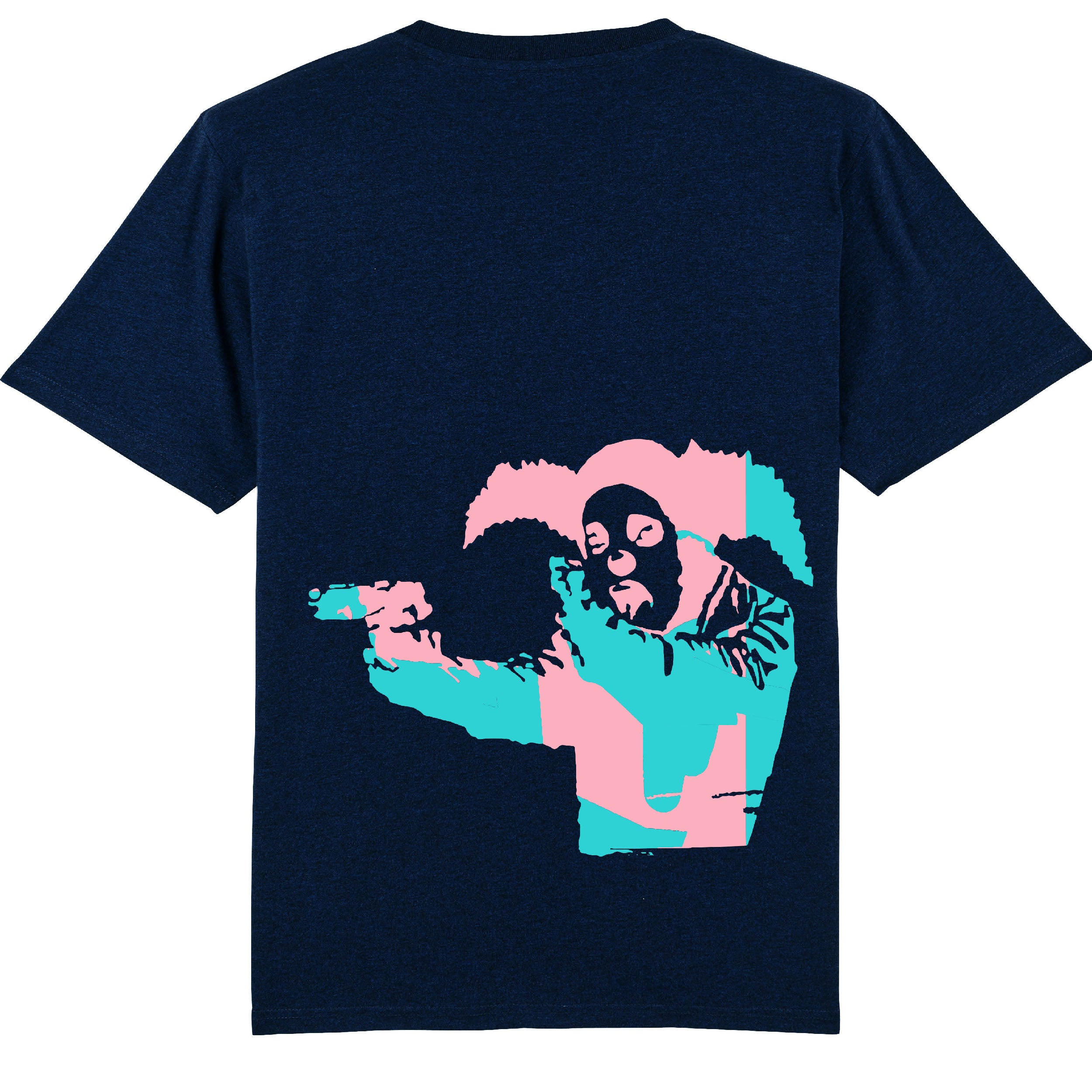 Clown Skateboards - Daily Operation Tee - Navy / Pink