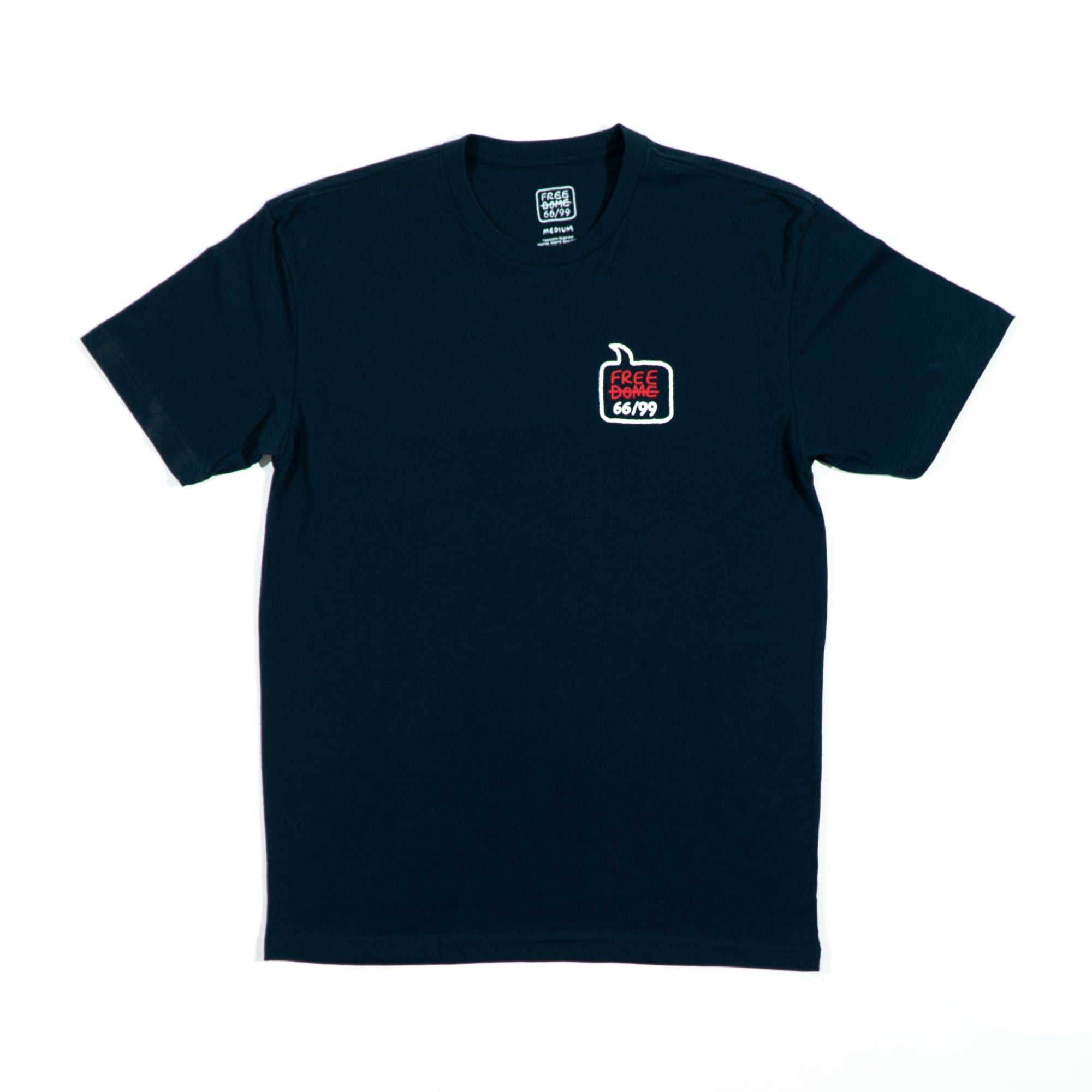 LOST ART x FREE DOME Tee 66/99 </br> Navy