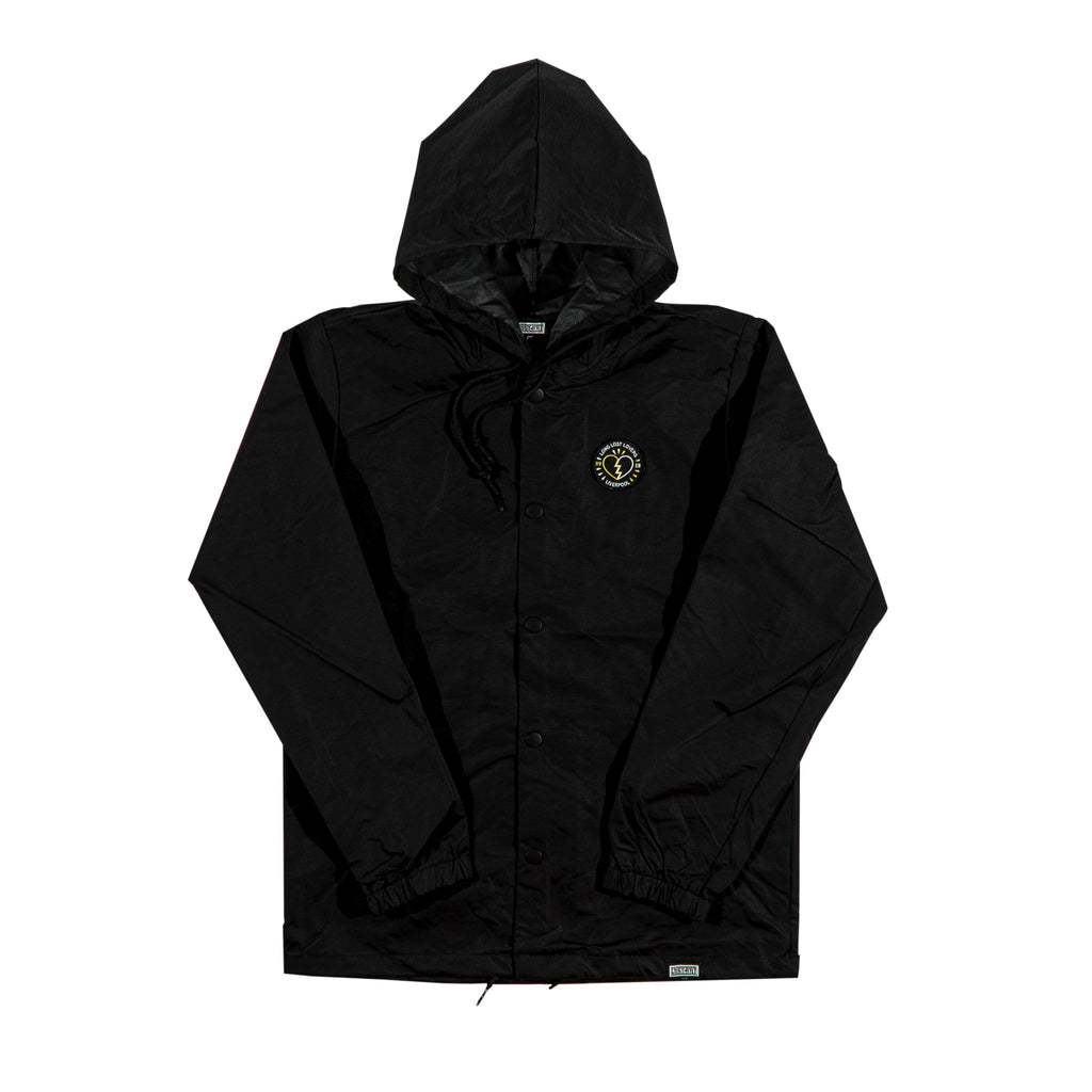 Long Lost Hooded Coach Jacket </br>Black