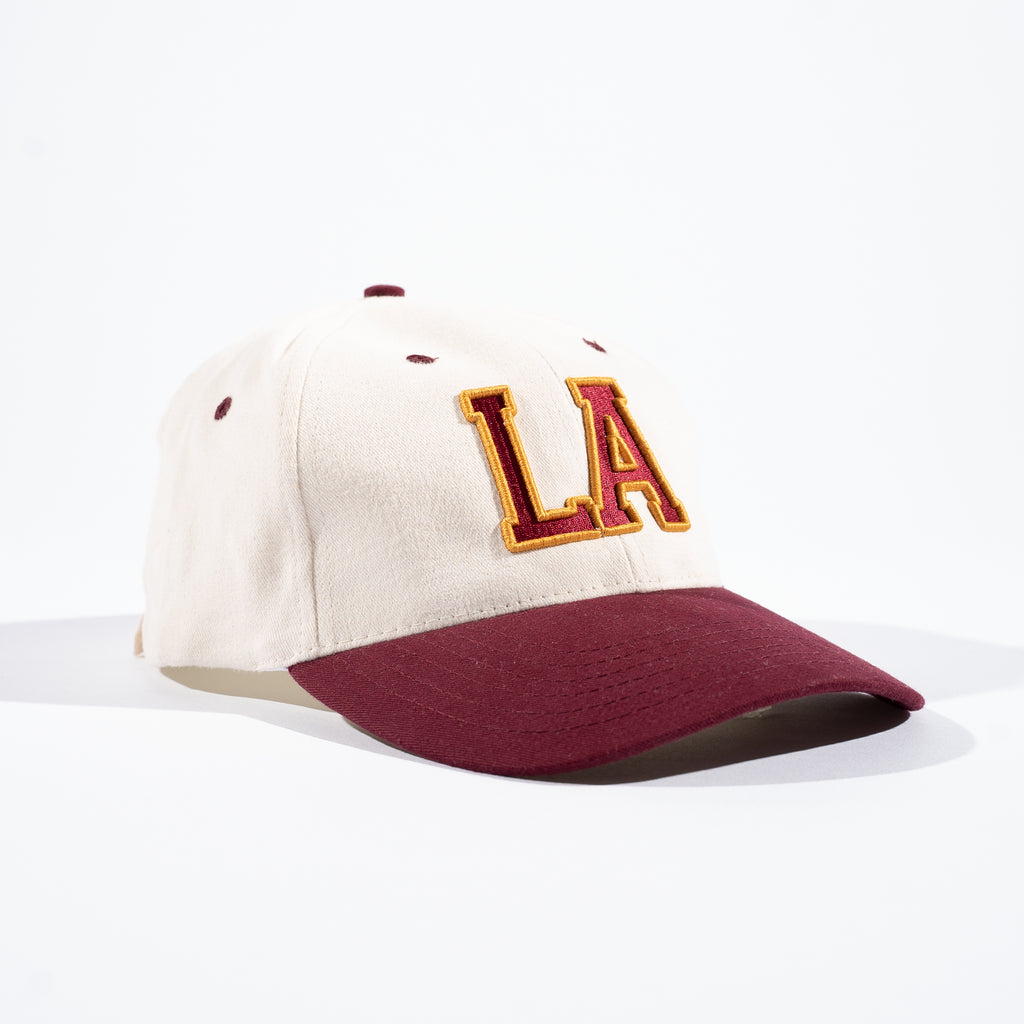 Lost Art -</br>College Cap </br>Burgundy/Natural