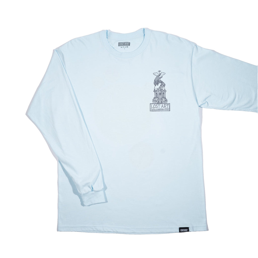Lost Art -</br>Liver Tee L/S </br>Light Blue