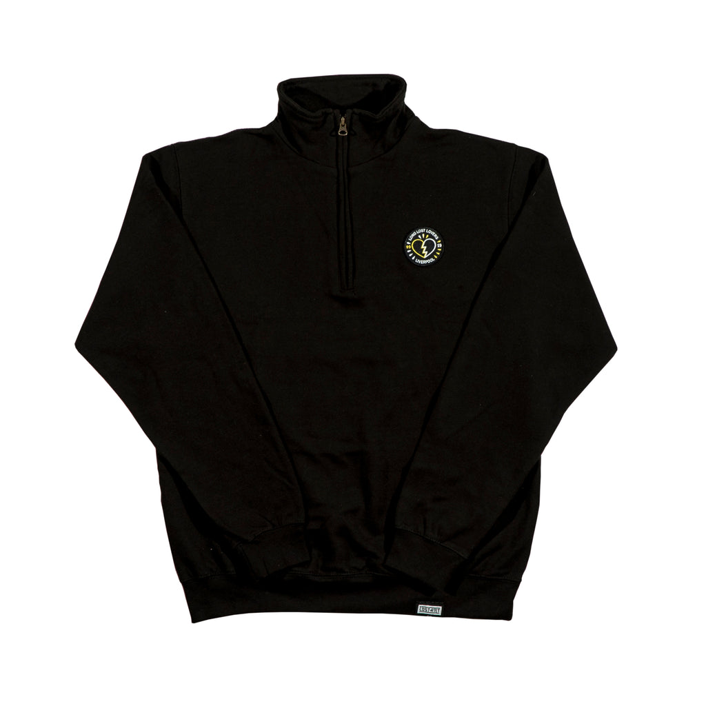 Long Lost Quarter Zip Jumper </br>Black