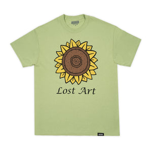 Lost Art -</br>Mark's Sunflower Tee </br> Pistachio