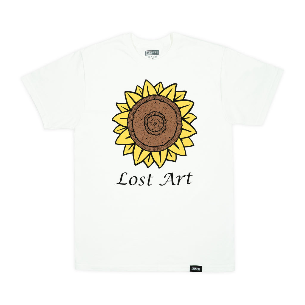 Lost Art -</br>Mark's Sunflower Tee </br> White