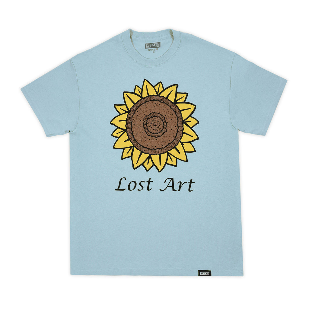 Lost Art -</br>Mark's Sunflower Tee </br> Light Blue