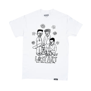 Lost Art -</br>Soul Skating Tee S/S </br>White