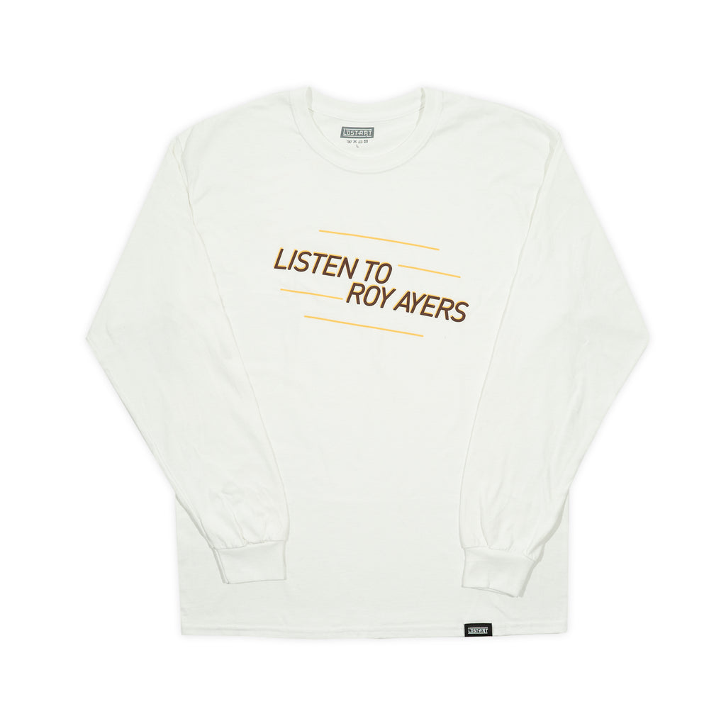 Lost Art -</br>Listen to Roy Ayers L/S Tee </br> White