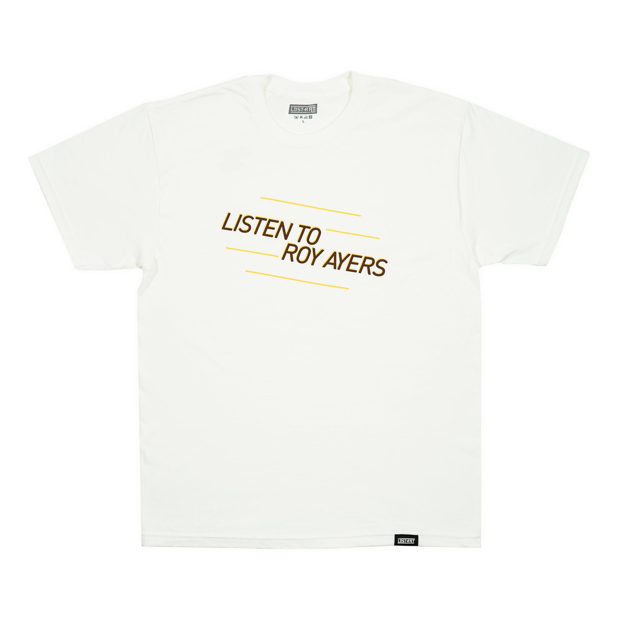 Lost Art -</br>Listen to Roy Ayers Tee </br> White